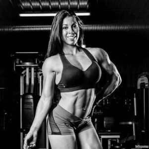 cute girl with strong body and toned biceps photo from instagram