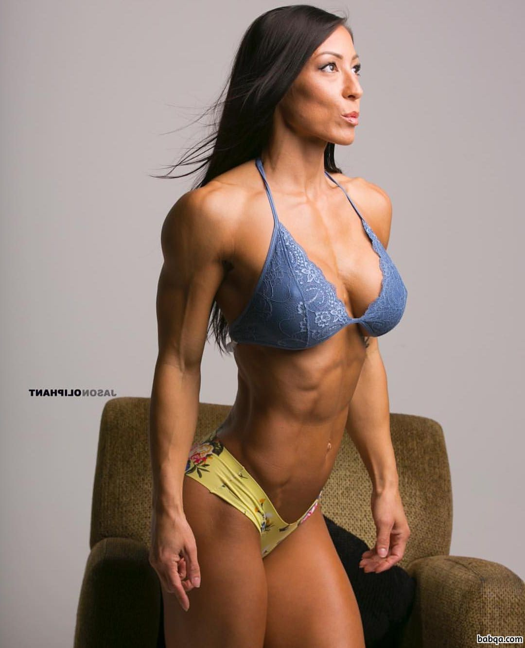 spicy woman with muscular body and muscle biceps picture from tumblr