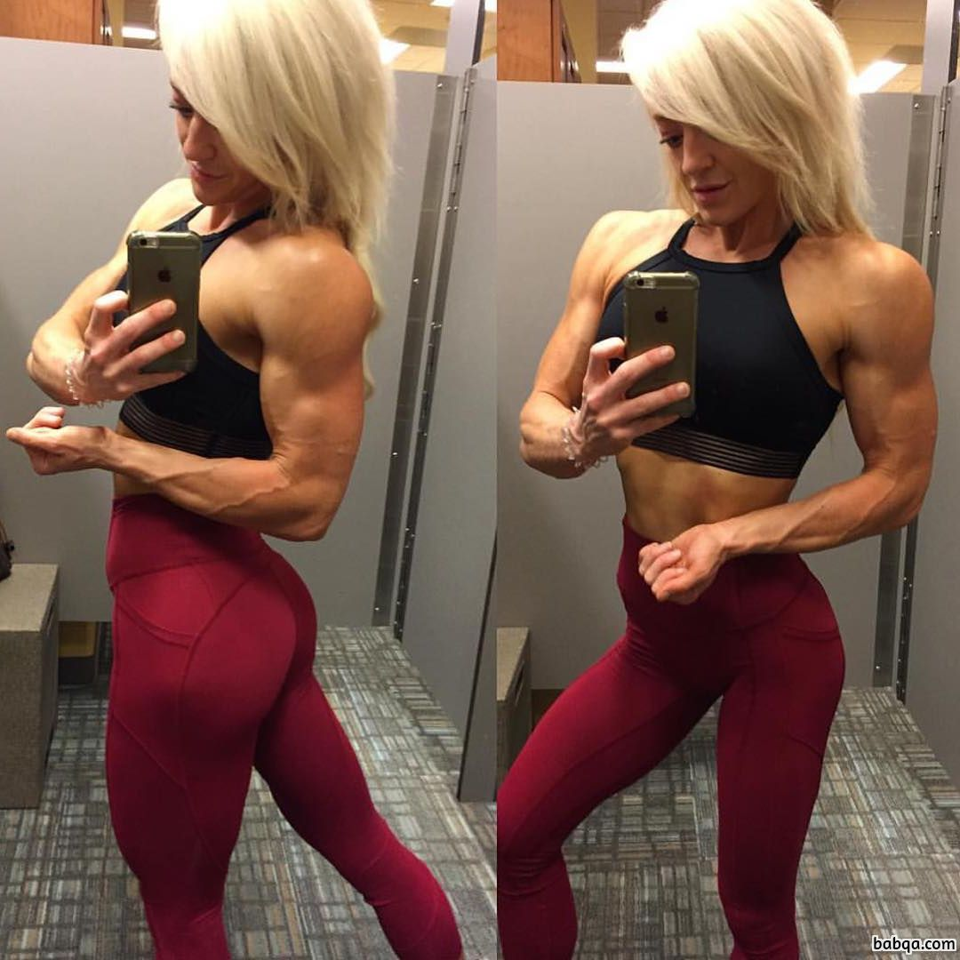 perfect babe with strong body and toned biceps post from flickr