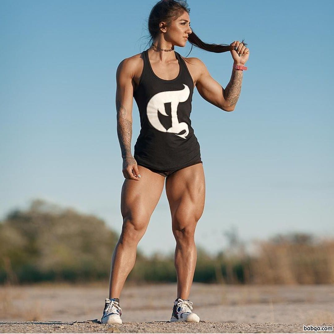 beautiful woman with fitness body and muscle booty image from flickr