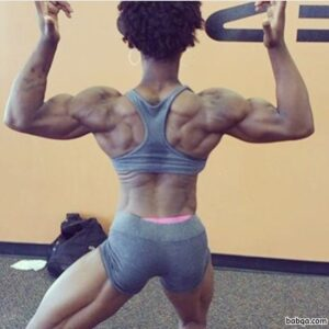 hottest female with muscular body and muscle arms photo from facebook