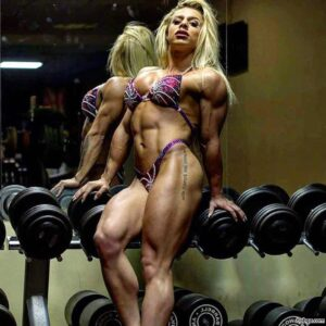 cute lady with strong body and muscle legs repost from facebook