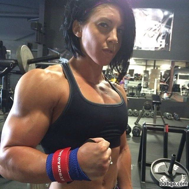 awesome female with muscular body and muscle booty post from linkedin