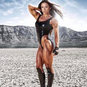 perfect female bodybuilder with muscle body and muscle legs repost from linkedin
