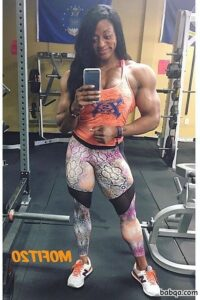 hot female bodybuilder with muscle body and toned ass photo from linkedin