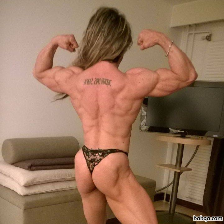 hot chick with strong body and toned booty pic from linkedin