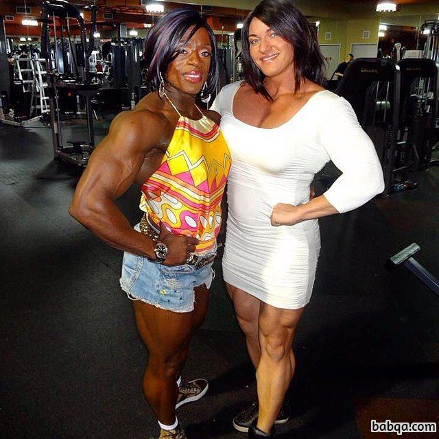 spicy lady with strong body and muscle arms pic from linkedin