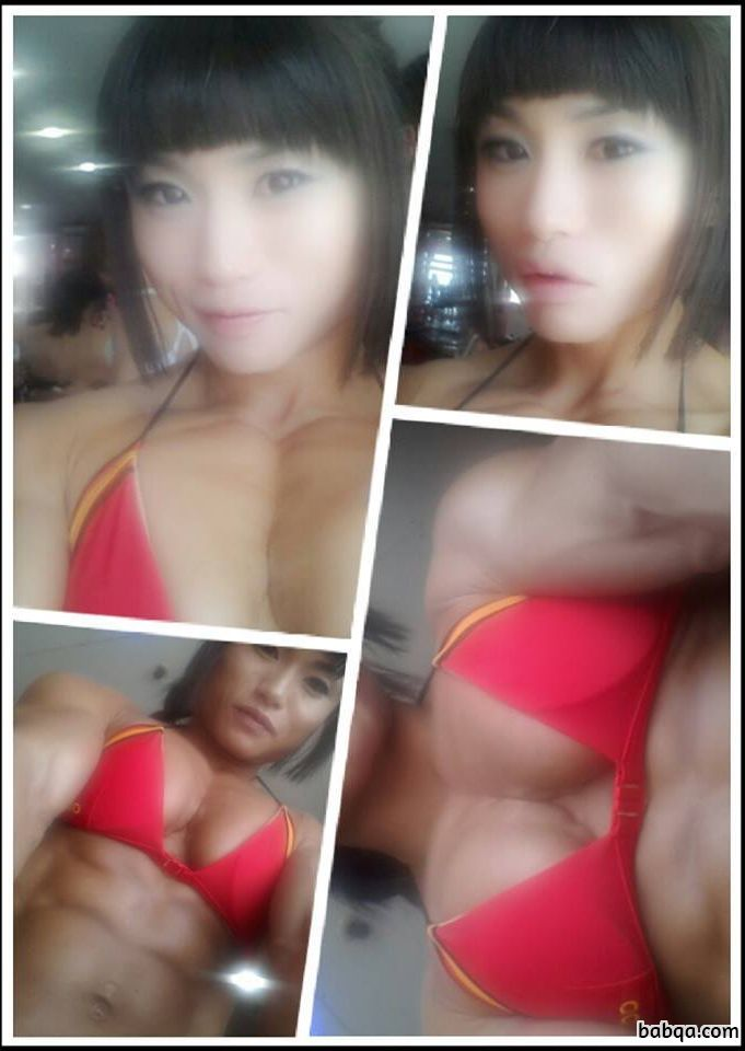 spicy chick with muscular body and muscle booty repost from g+