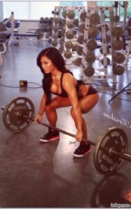 spicy woman with fitness body and muscle biceps photo from tumblr