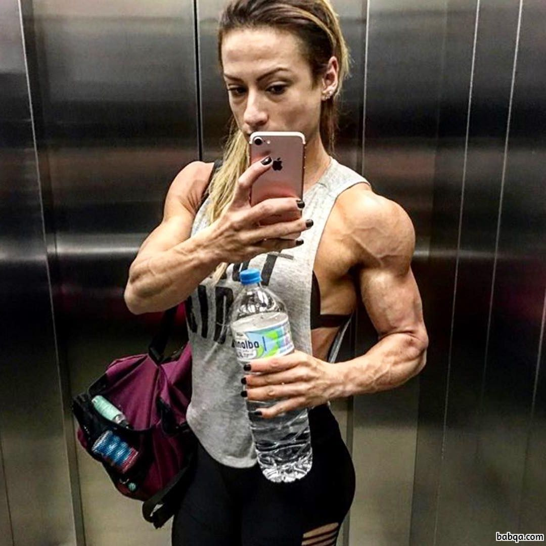 hottest female bodybuilder with strong body and toned biceps photo from tumblr