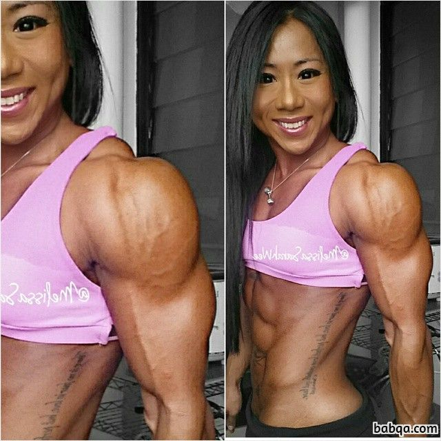 awesome chick with strong body and muscle biceps photo from linkedin