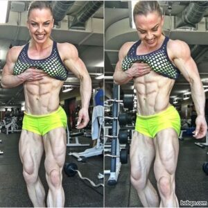 sexy female with muscle body and muscle biceps pic from tumblr