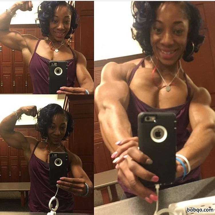 hot woman with muscle body and toned biceps picture from reddit