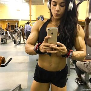 hottest female with muscle body and muscle legs photo from insta