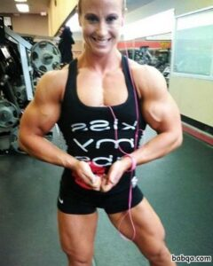 sexy female bodybuilder with muscle body and toned ass picture from facebook