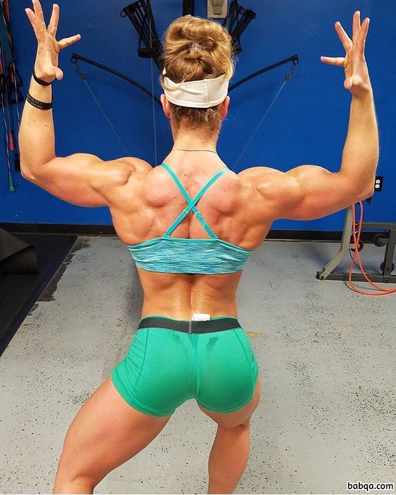 awesome babe with fitness body and muscle arms picture from reddit