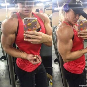 sexy female bodybuilder with muscle body and muscle bottom repost from facebook