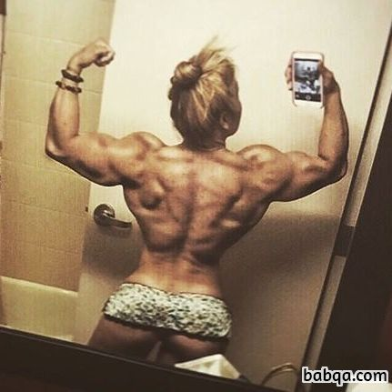 awesome woman with fitness body and muscle bottom repost from g+