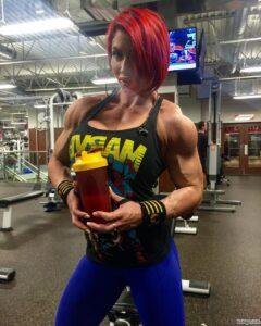spicy lady with fitness body and toned arms post from reddit