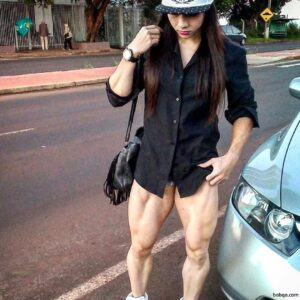 hot chick with strong body and muscle legs image from facebook