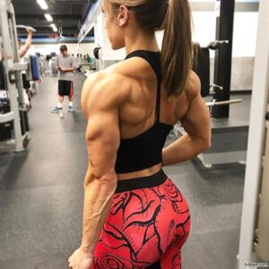 hot girl with muscular body and muscle biceps post from flickr