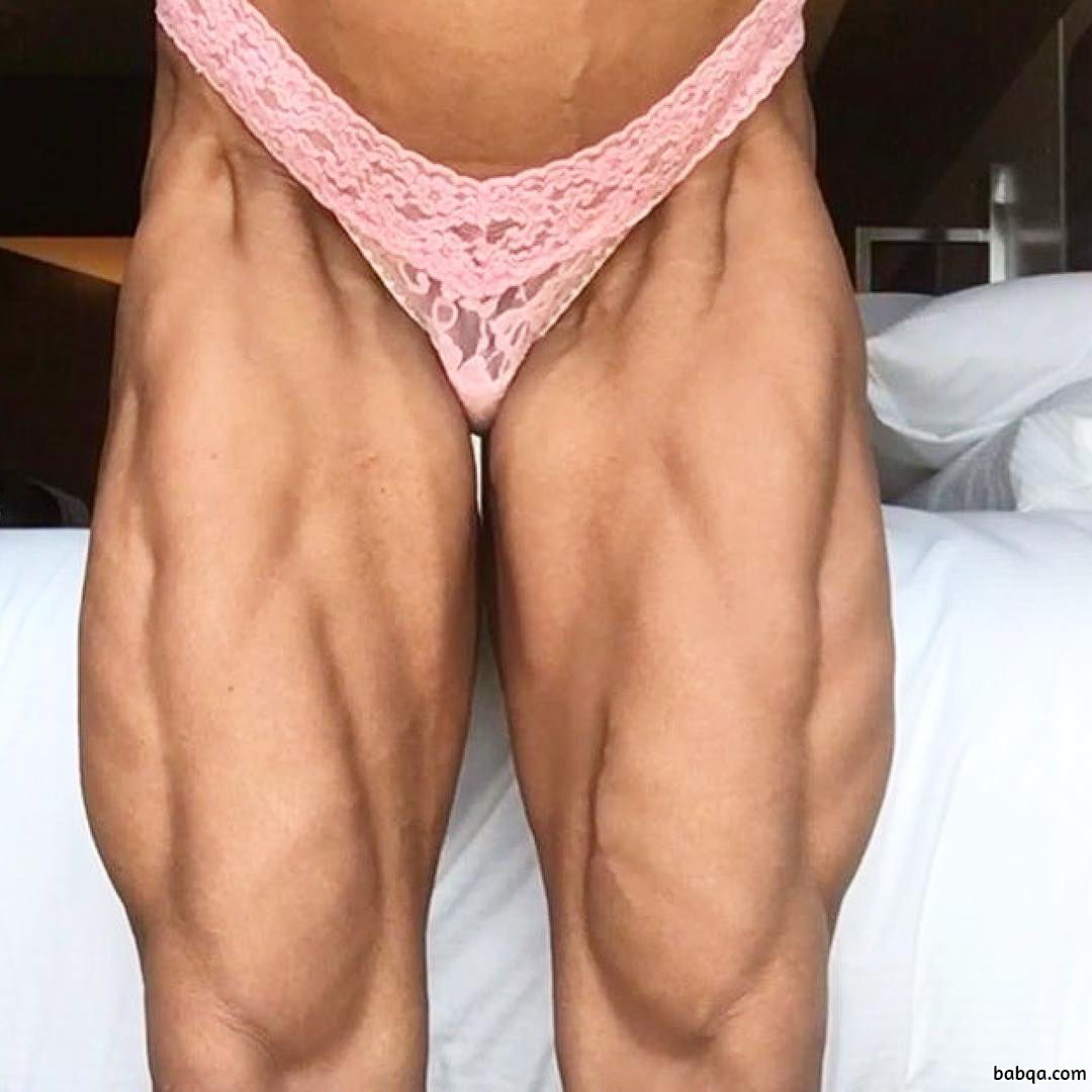 perfect lady with strong body and muscle biceps post from insta