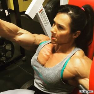 perfect lady with muscle body and muscle arms picture from tumblr