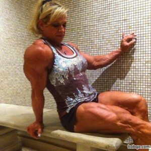 hottest girl with muscle body and toned biceps picture from linkedin