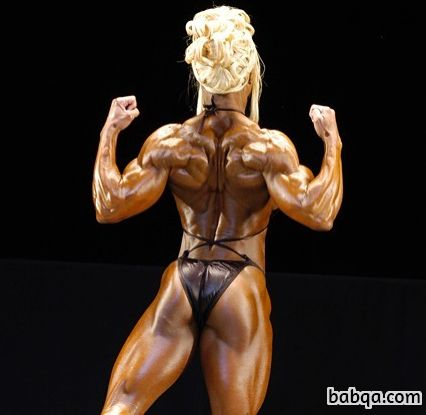 spicy female bodybuilder with muscle body and muscle bottom image from instagram