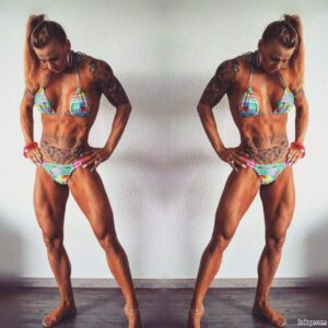 sexy lady with fitness body and toned biceps picture from tumblr
