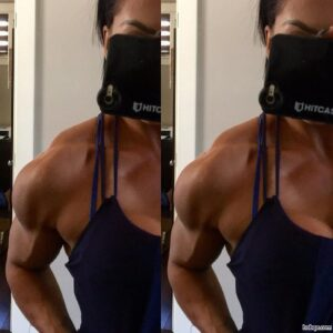 hot lady with muscular body and muscle biceps repost from linkedin