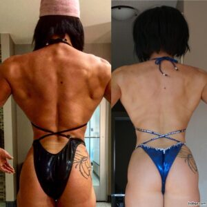 sexy girl with muscular body and muscle bottom image from facebook