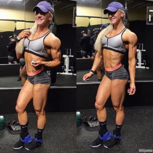 hot woman with fitness body and muscle arms picture from reddit