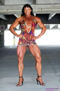 hot female bodybuilder with muscular body and muscle legs post from linkedin