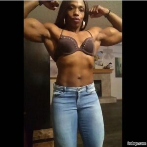 spicy female bodybuilder with strong body and toned booty picture from facebook