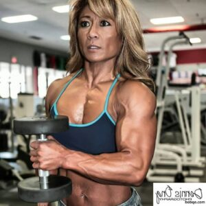 spicy female bodybuilder with muscular body and muscle ass image from instagram
