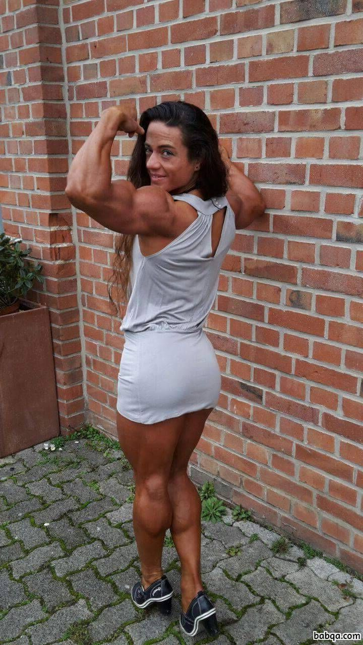 beautiful female with muscle body and toned biceps picture from g+