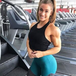 hot female bodybuilder with fitness body and muscle booty pic from insta