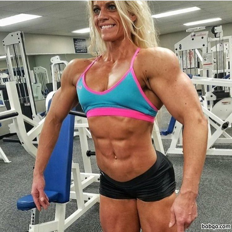 cute lady with muscular body and toned bottom repost from instagram