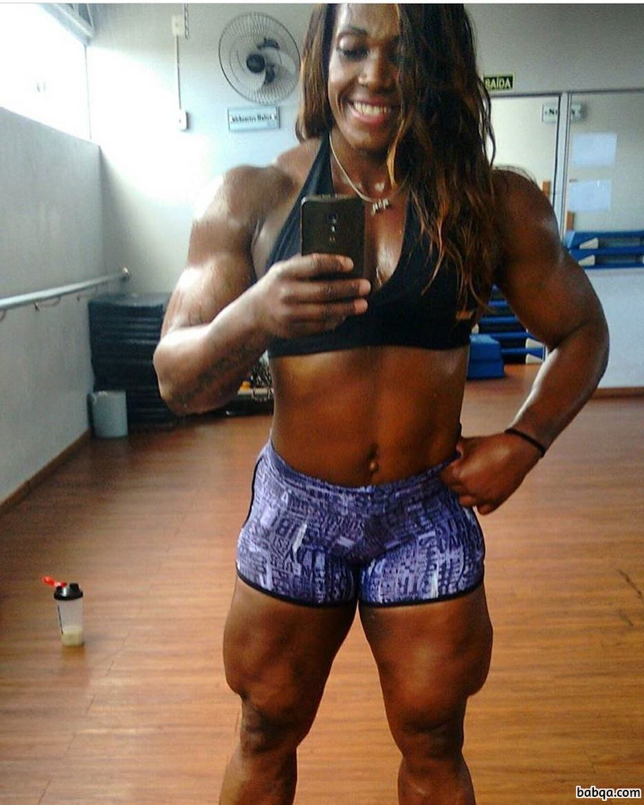 cute female with fitness body and muscle legs pic from flickr