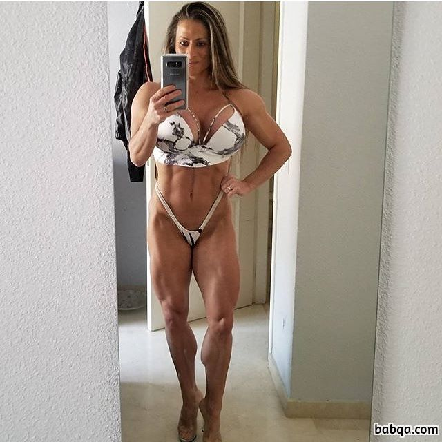 awesome female bodybuilder with muscular body and muscle legs image from facebook