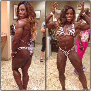 awesome female bodybuilder with muscular body and muscle bottom repost from linkedin
