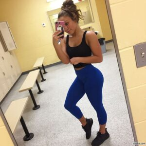 perfect lady with muscle body and toned bottom picture from insta