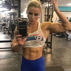 beautiful female bodybuilder with fitness body and muscle arms picture from reddit