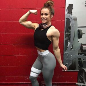 hot chick with muscular body and toned arms repost from instagram