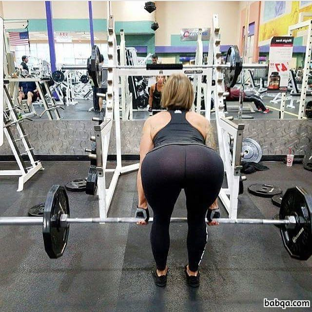 hottest chick with muscle body and muscle bottom photo from insta