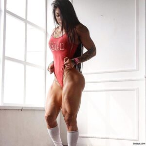 hottest chick with muscle body and toned ass repost from insta