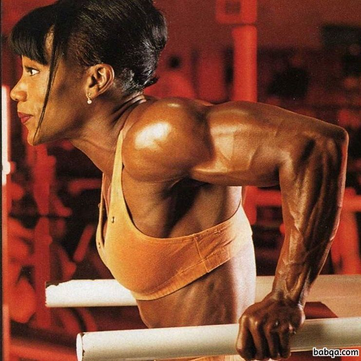 awesome female with muscular body and muscle biceps pic from g+