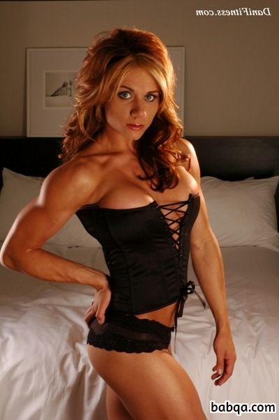 hottest woman with strong body and muscle biceps image from facebook