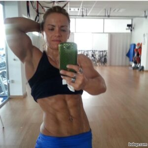 spicy female with fitness body and muscle booty picture from tumblr